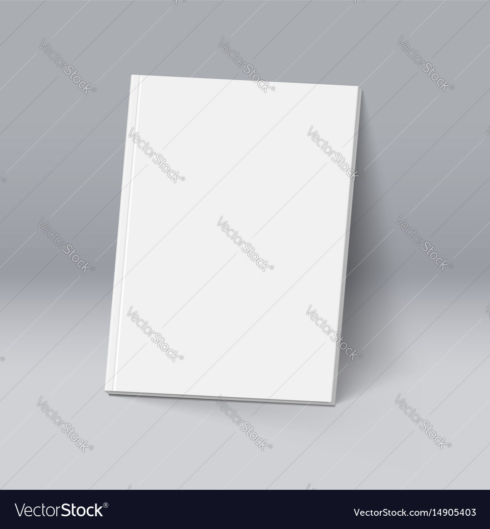 White book for design mockup template vector image
