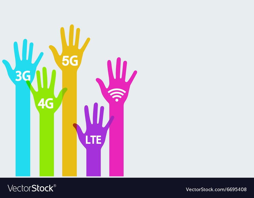 Colorful hands mobile internet infographics