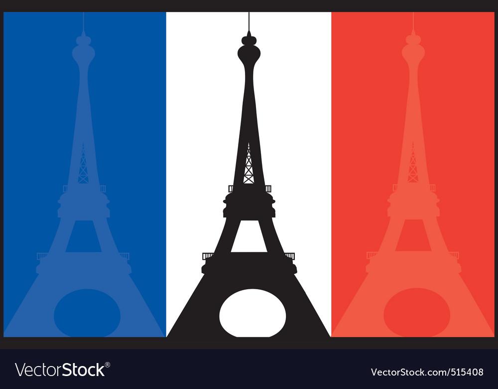 French flag and eiffel