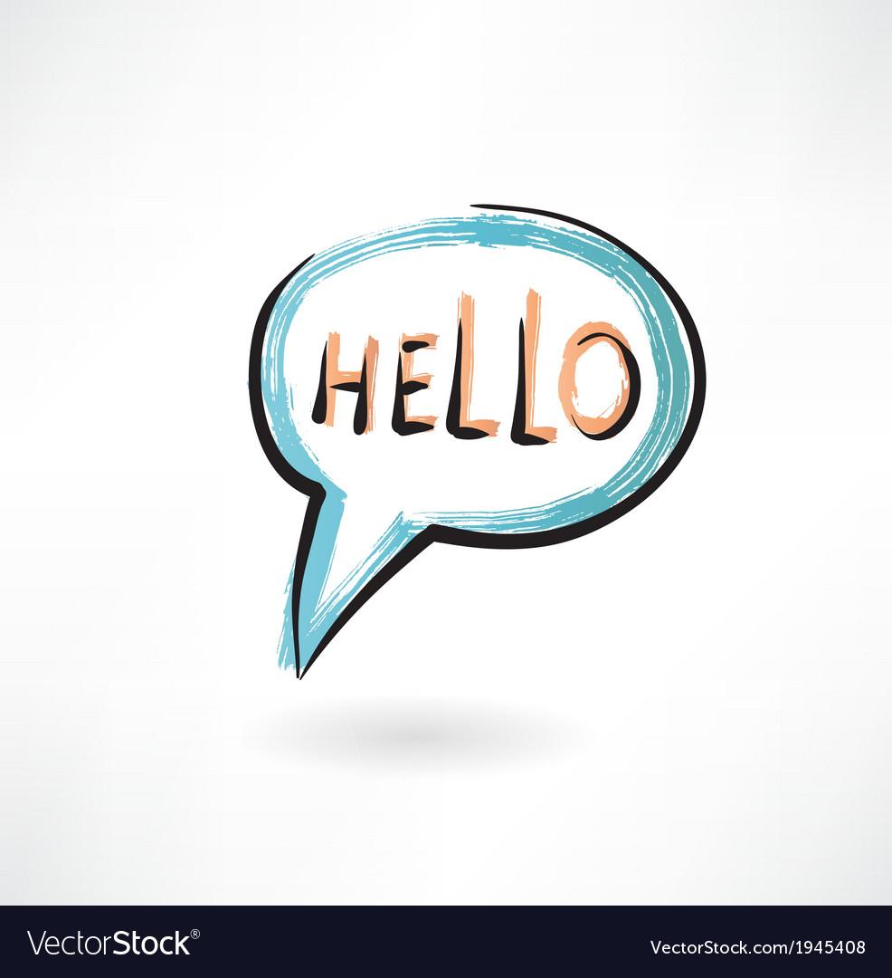 Hello in bubble speech