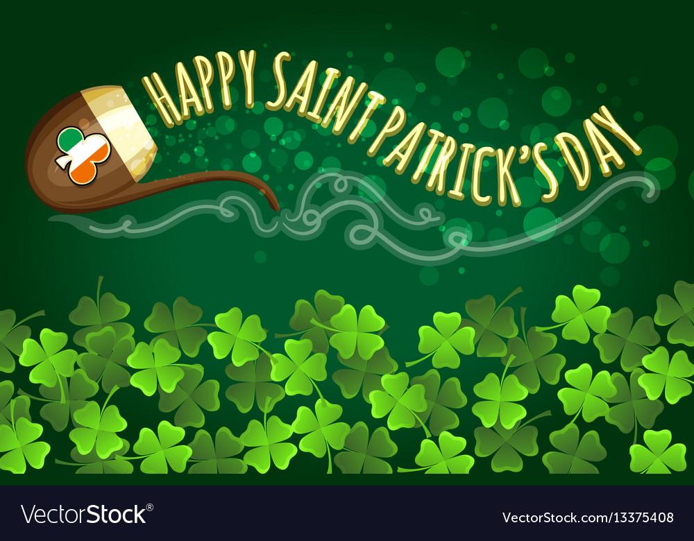 Irish holiday saint patricks day banner