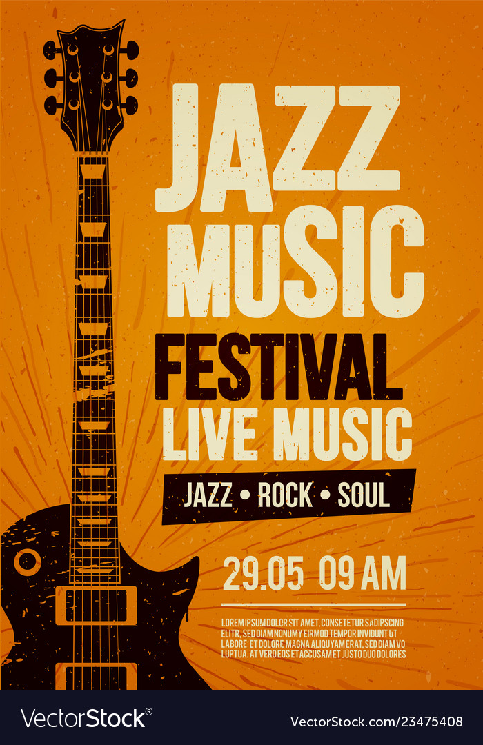 Poster design template for rock zazz festival