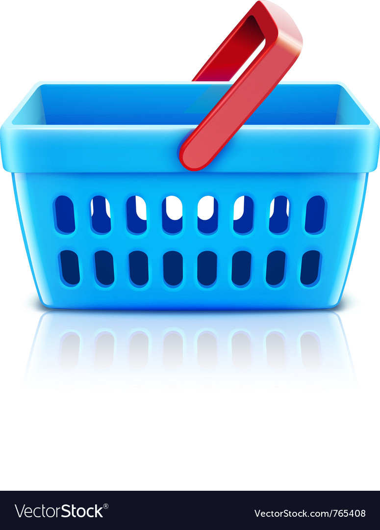 Supermarket shopping basket vector