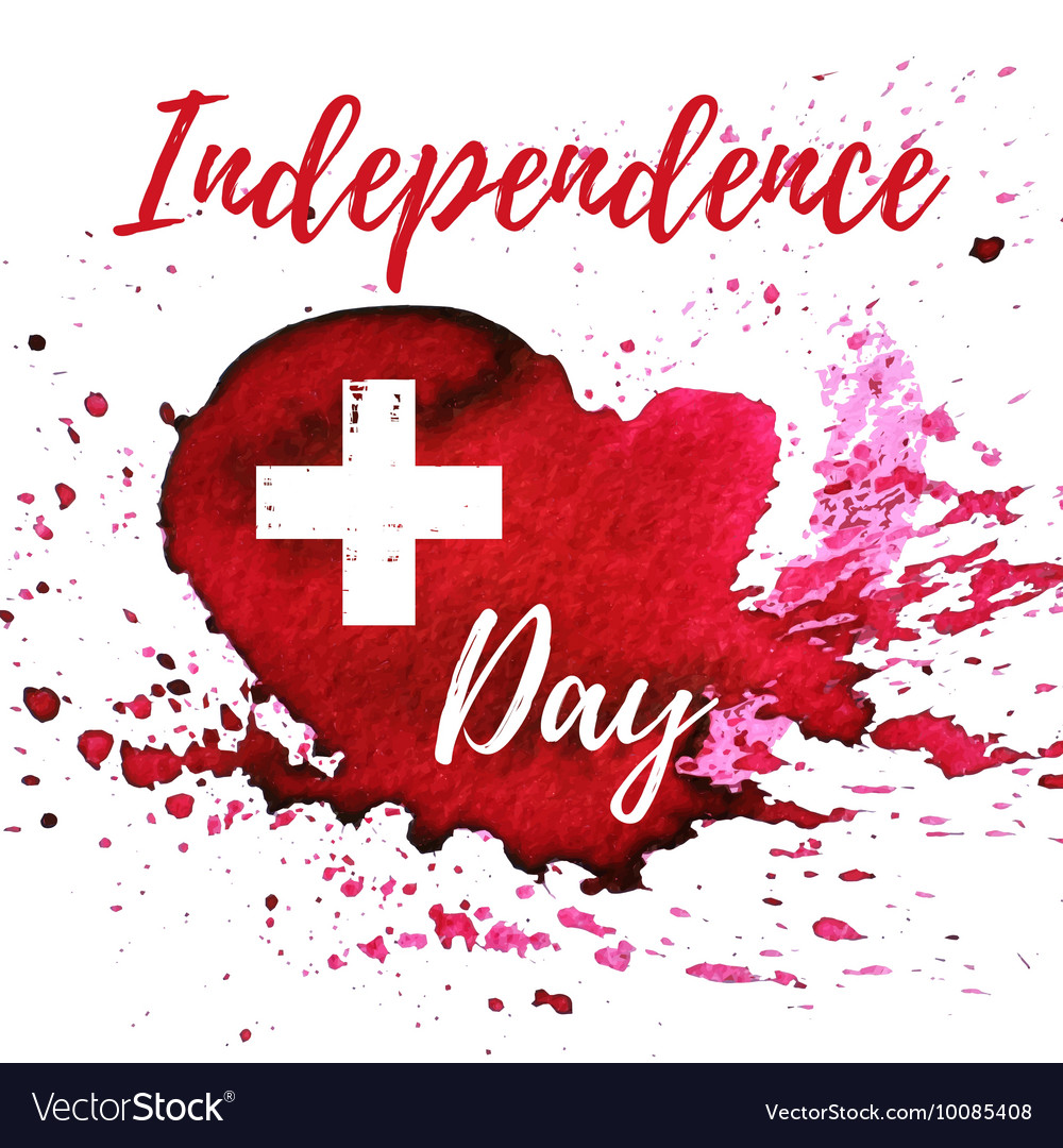 Switzerland Independence day greeting card