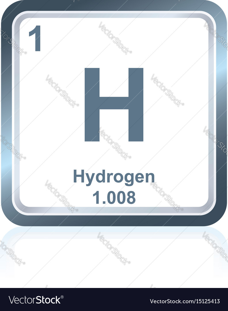 Chemical element hydrogen from the periodic table vector image urtaz Images