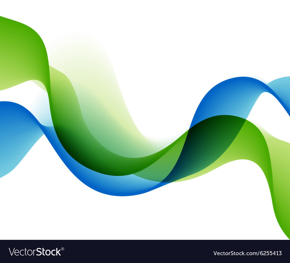Color abstract waves vector image