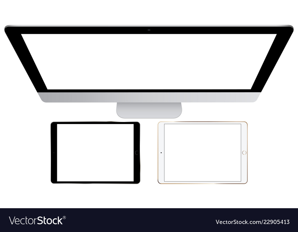Computer monitor and tablets