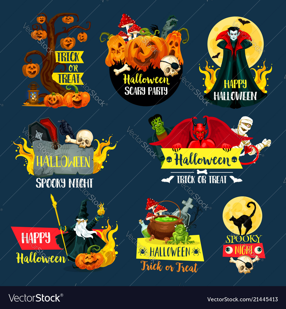 Halloween autumn holiday trick or treat symbol