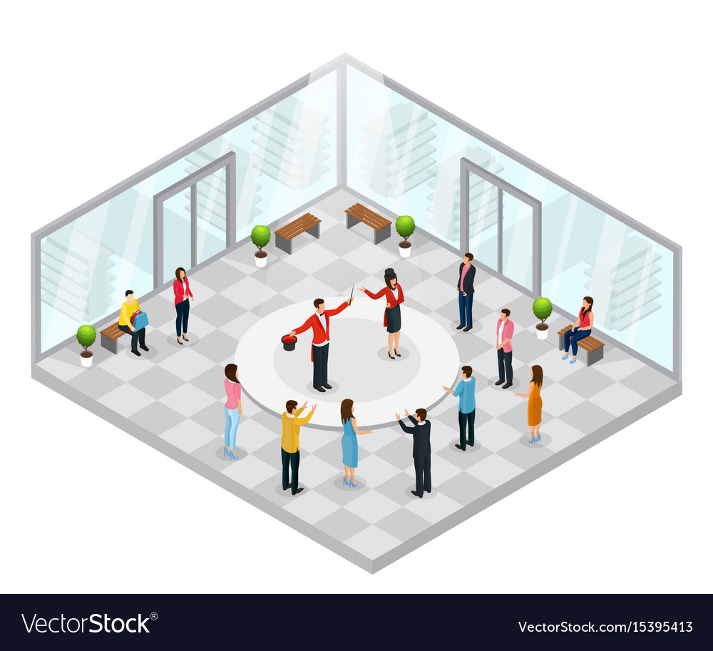 Isometric magic performance concept vector image