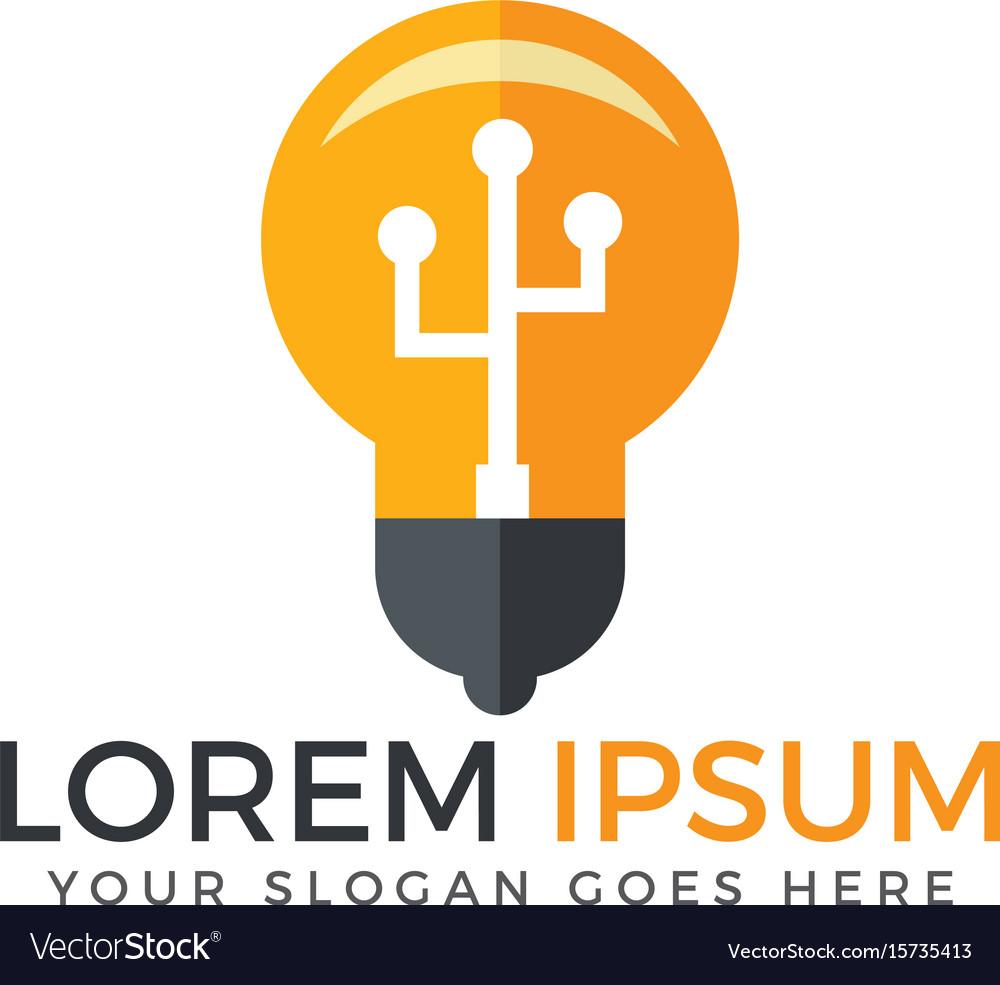 Light bulb logo design vector image
