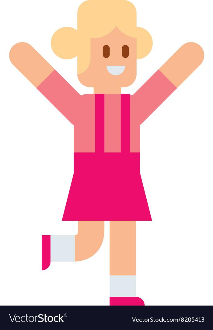 Little girl running training athlete healthy