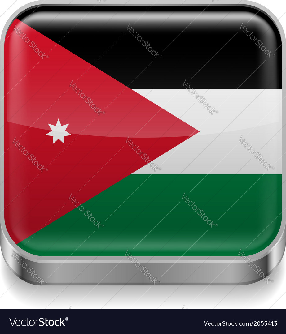 Metal icon of Jordan