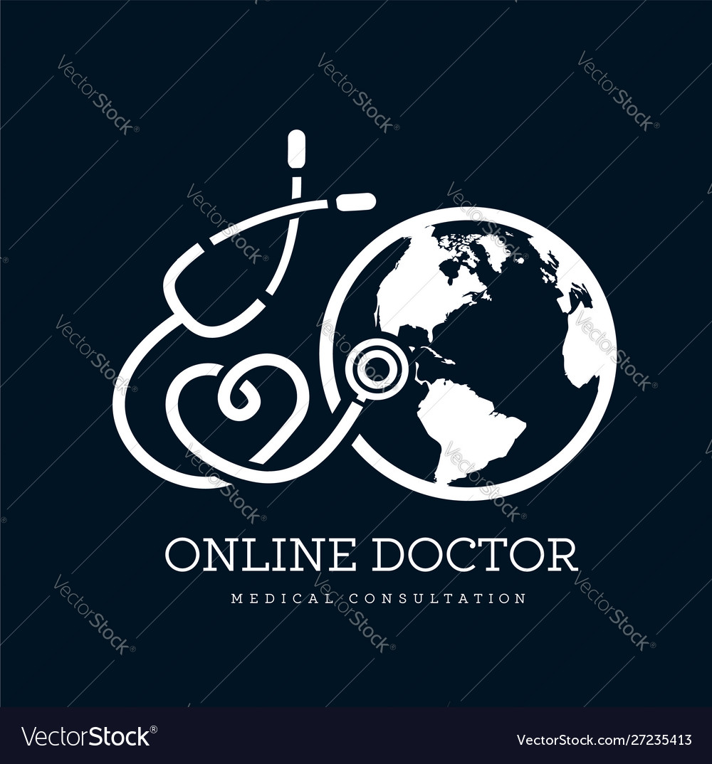 Sign in form a stethoscope in shape of