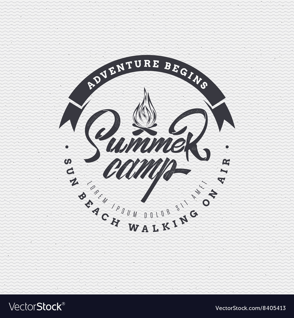 Summer Camp - badge icon poster label print