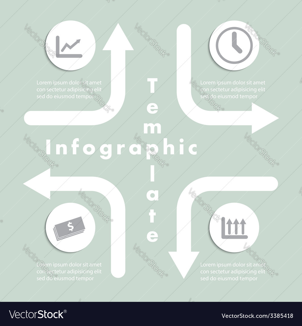 Arrow and Sign Infographics Design Template
