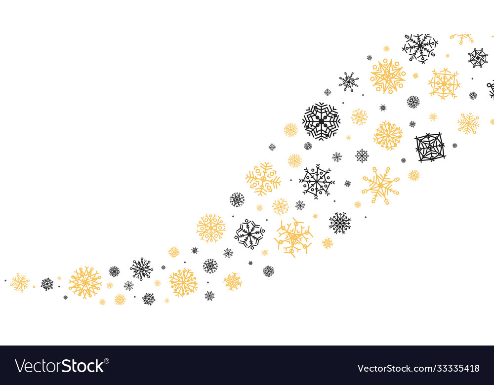 Curved snowflakes ornament decorative winter