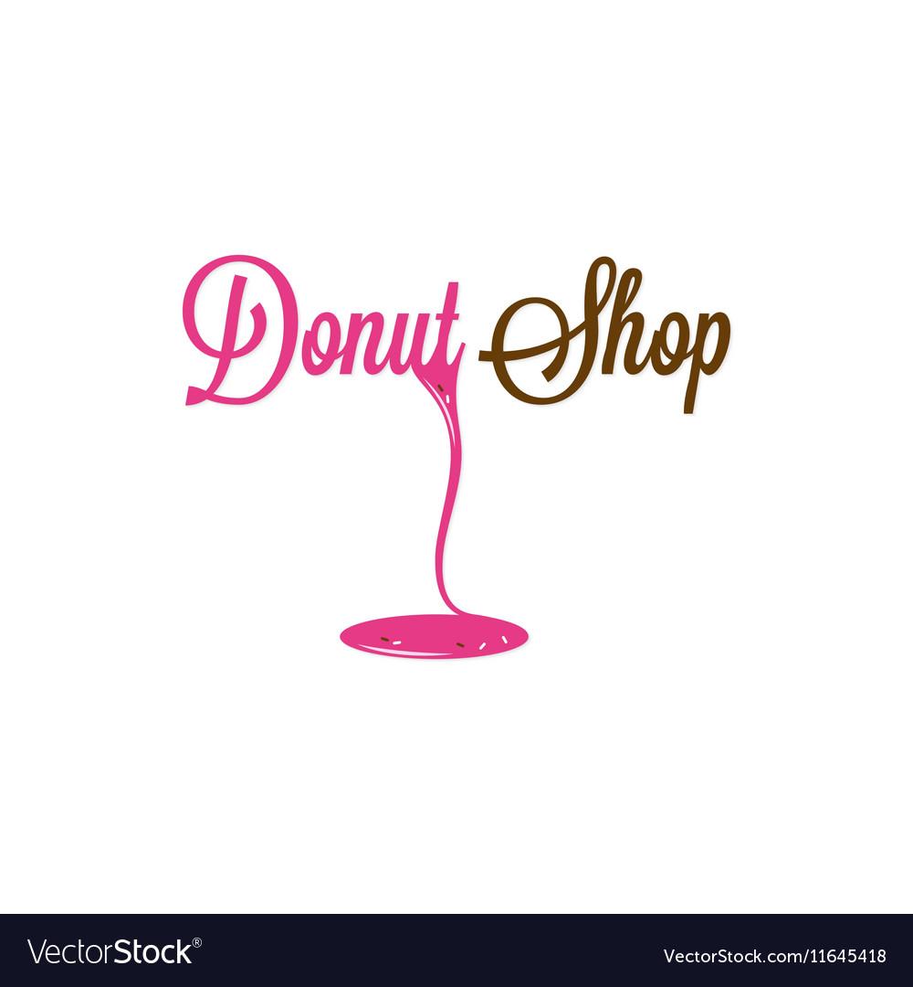 Donut Shop Glazed Logo Design Background