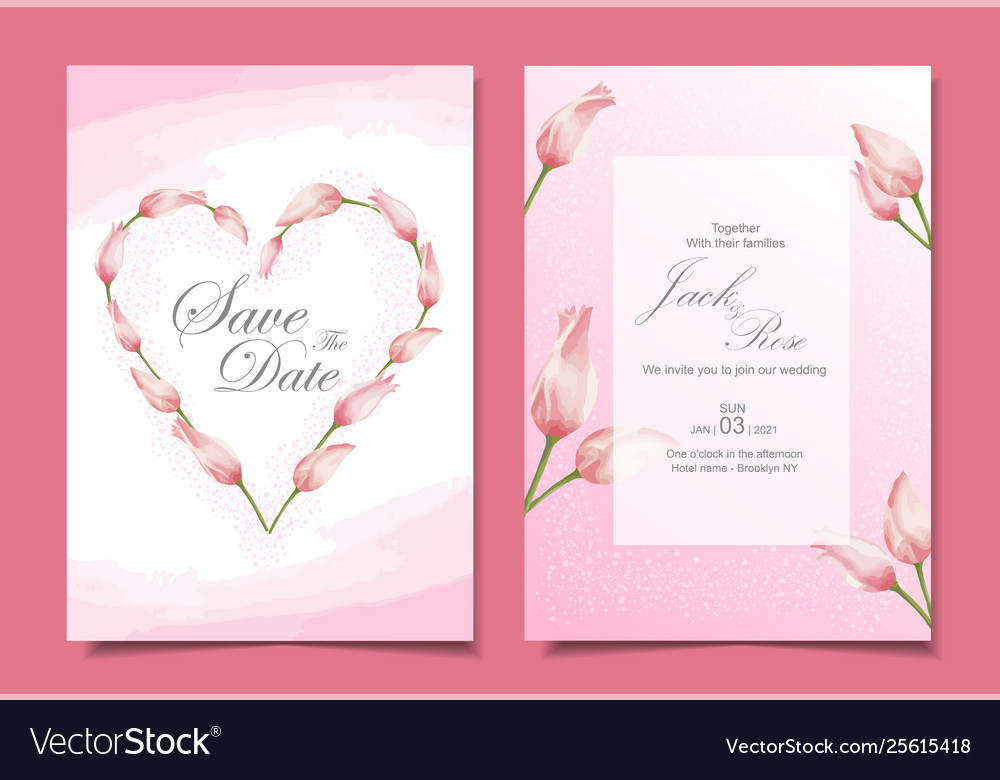 Modern Wedding Invitation Cards Template Vector 7