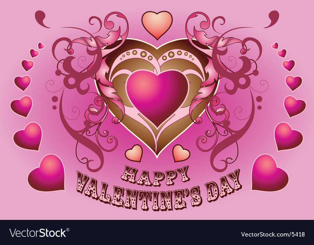 Valentine variant vector image