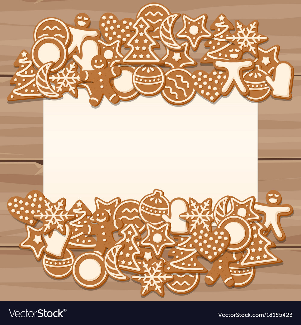 Blank Sheet For Christmas And New Year Greetings Vector Image
