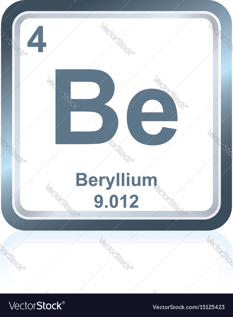 Chemical element beryllium from the periodic table chemical element beryllium from the periodic table vector image urtaz