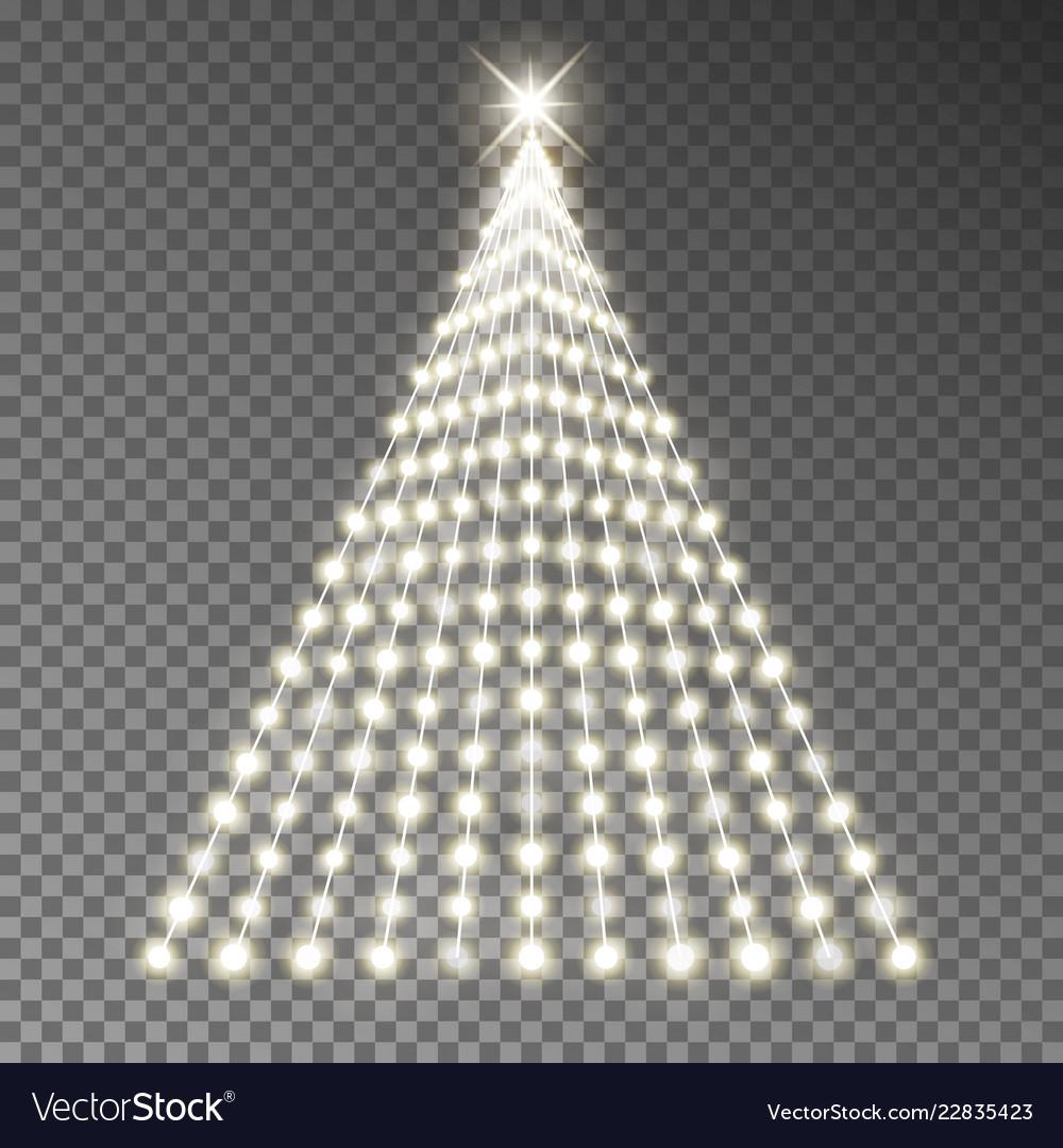 Christmas Tree Of Lights String Glowing Xm