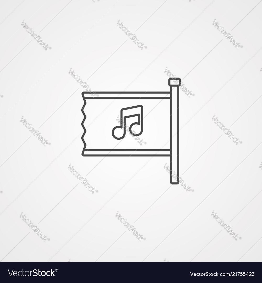 Flag icon sign symbol