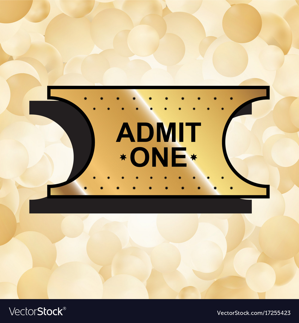Gold ticket icon