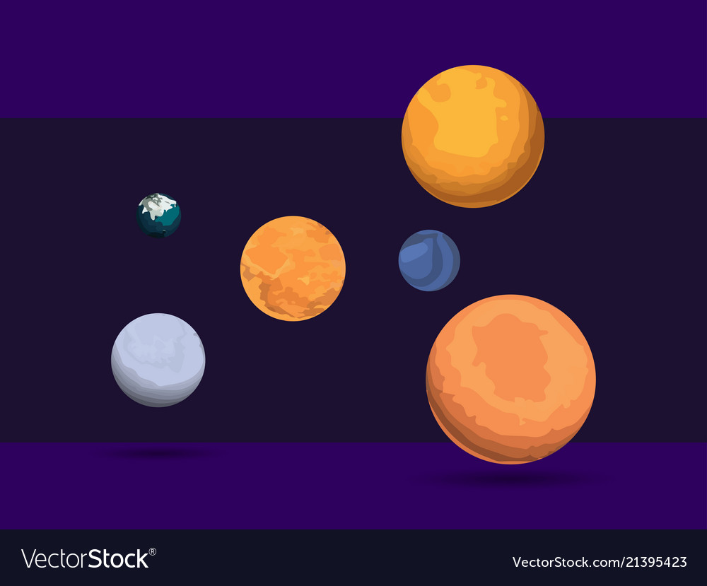 Planet set outer space
