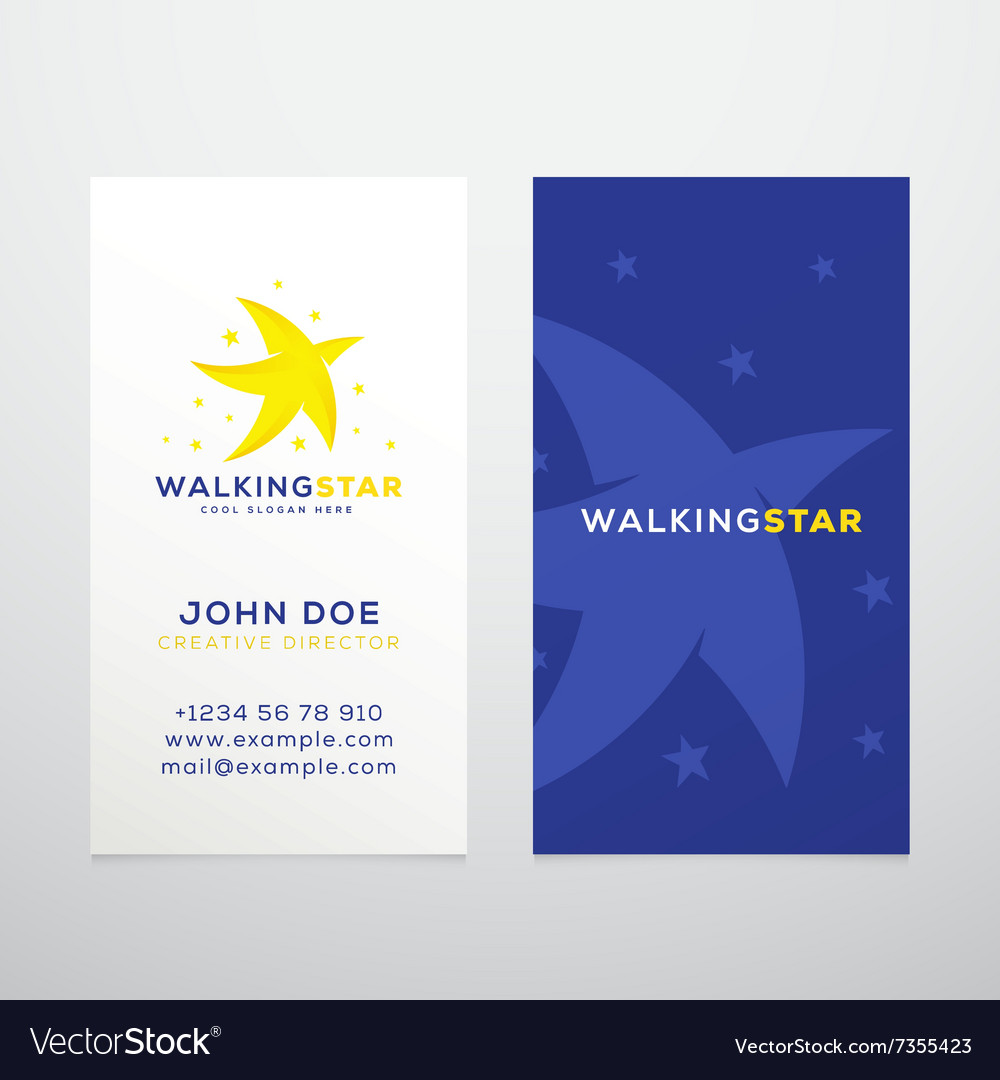 Walking star abstract business card royalty free vector walking star abstract business card vector image reheart Images
