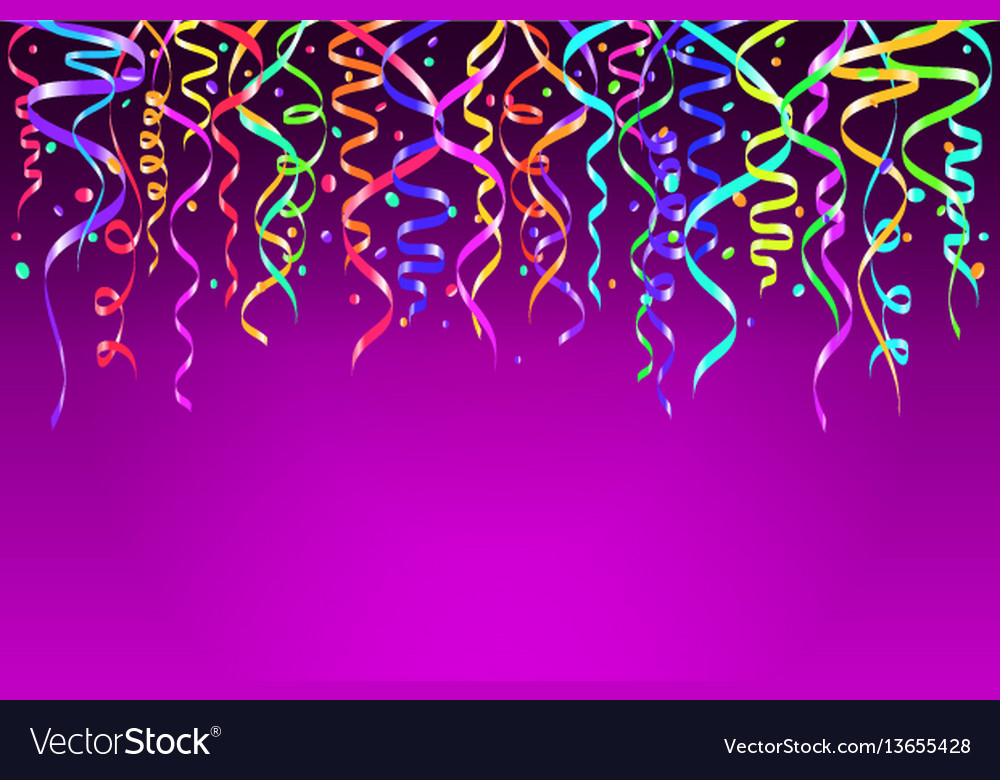 Colorful confetti decoration for vector image