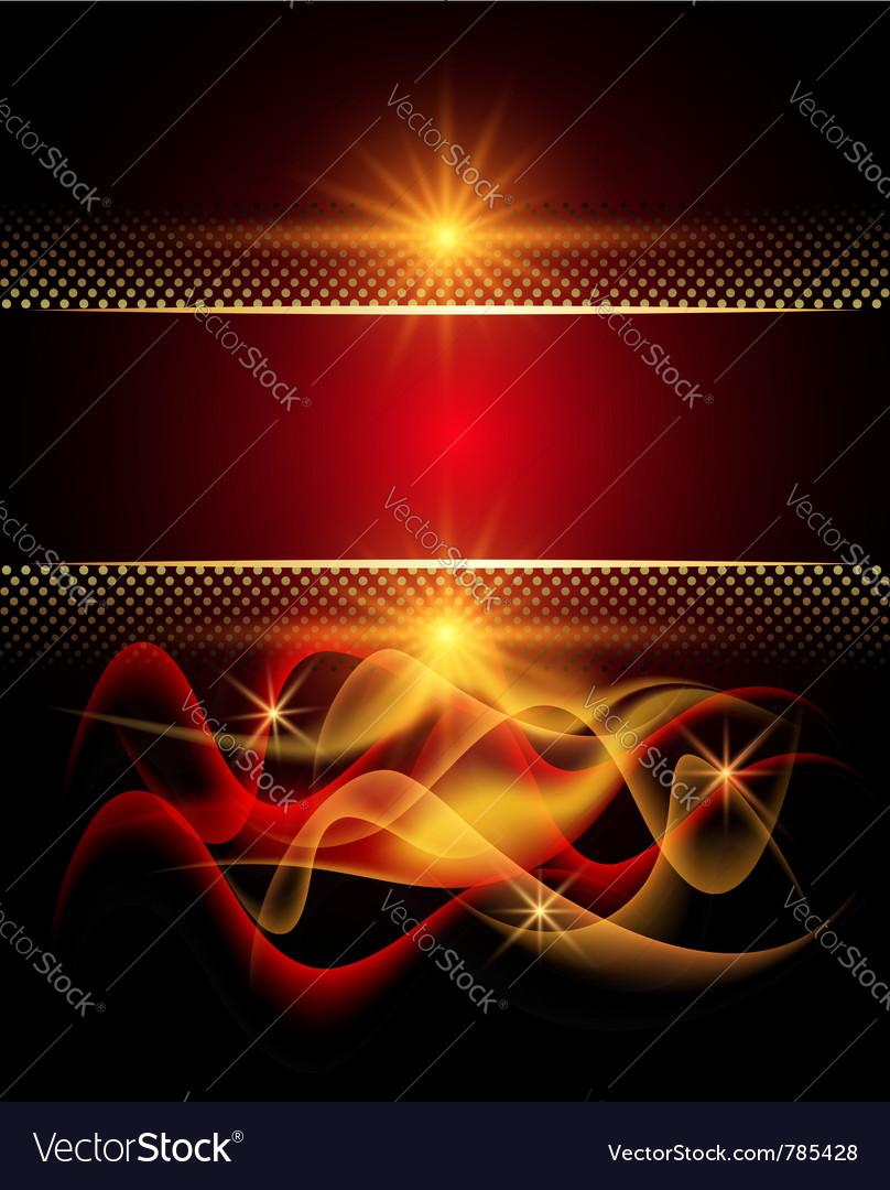 Glowing stars and smoke vector image