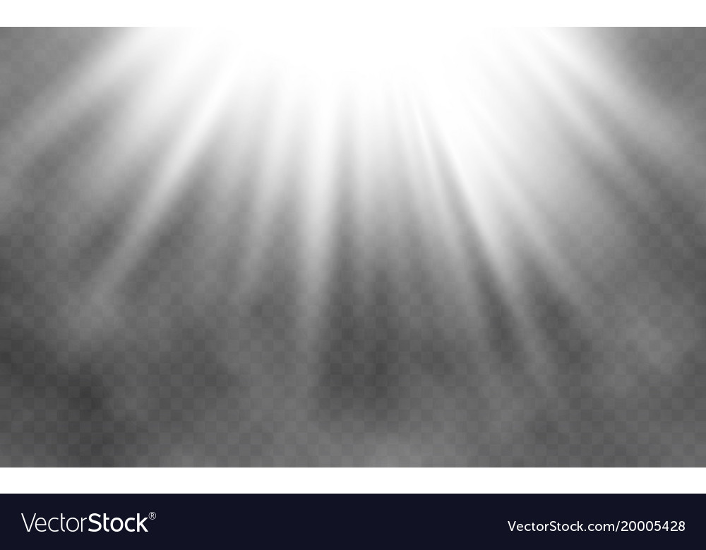 Light effect and smoke on transparent background