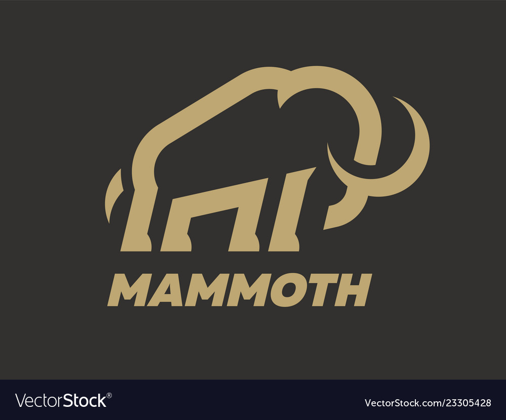 Mammoth logo template on a dark background