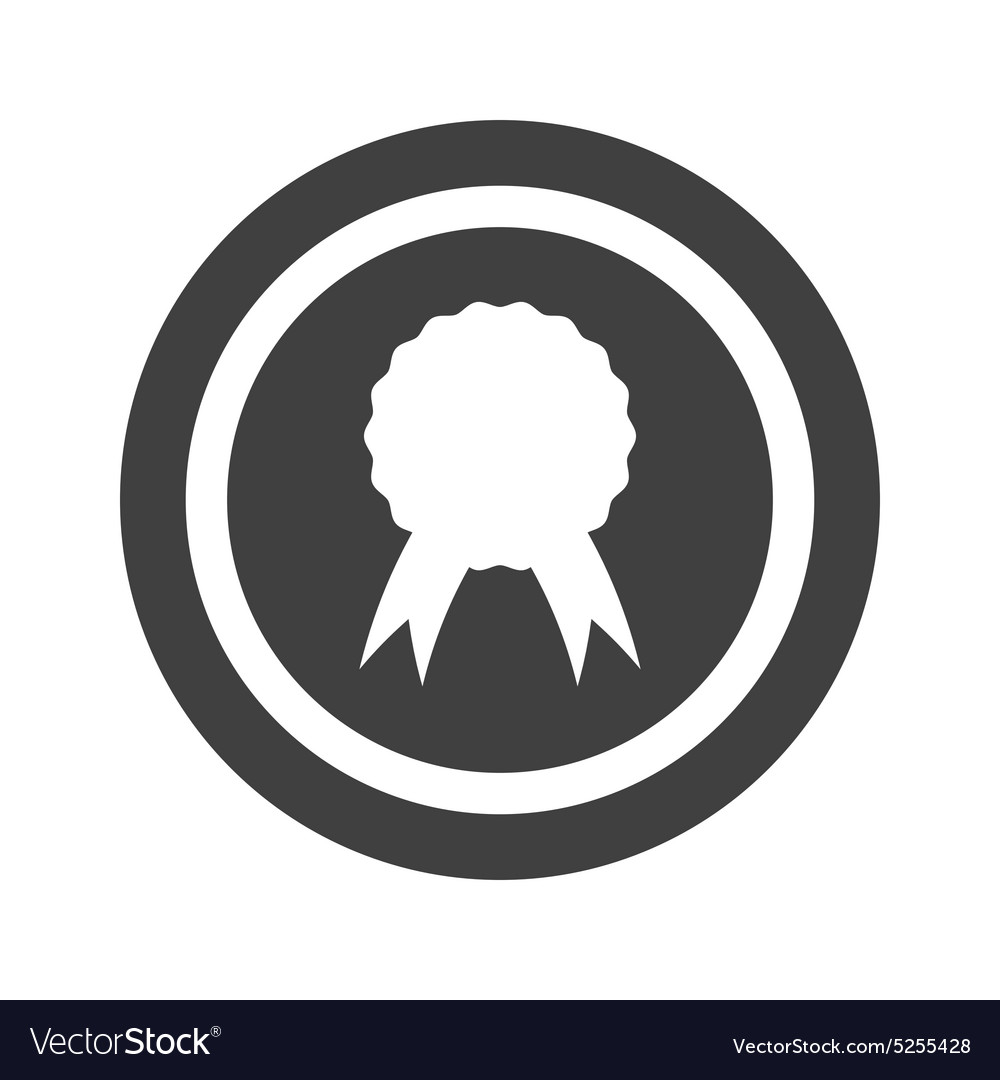 Round Black Certificate Seal Sign Royalty Free Vector Image