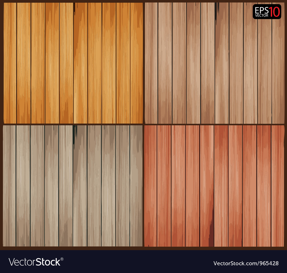 Set of wood background with wooden texture vector image