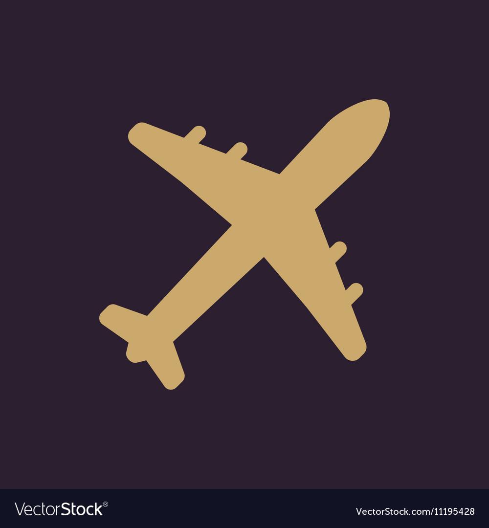 The plane icon Travel symbol Flat