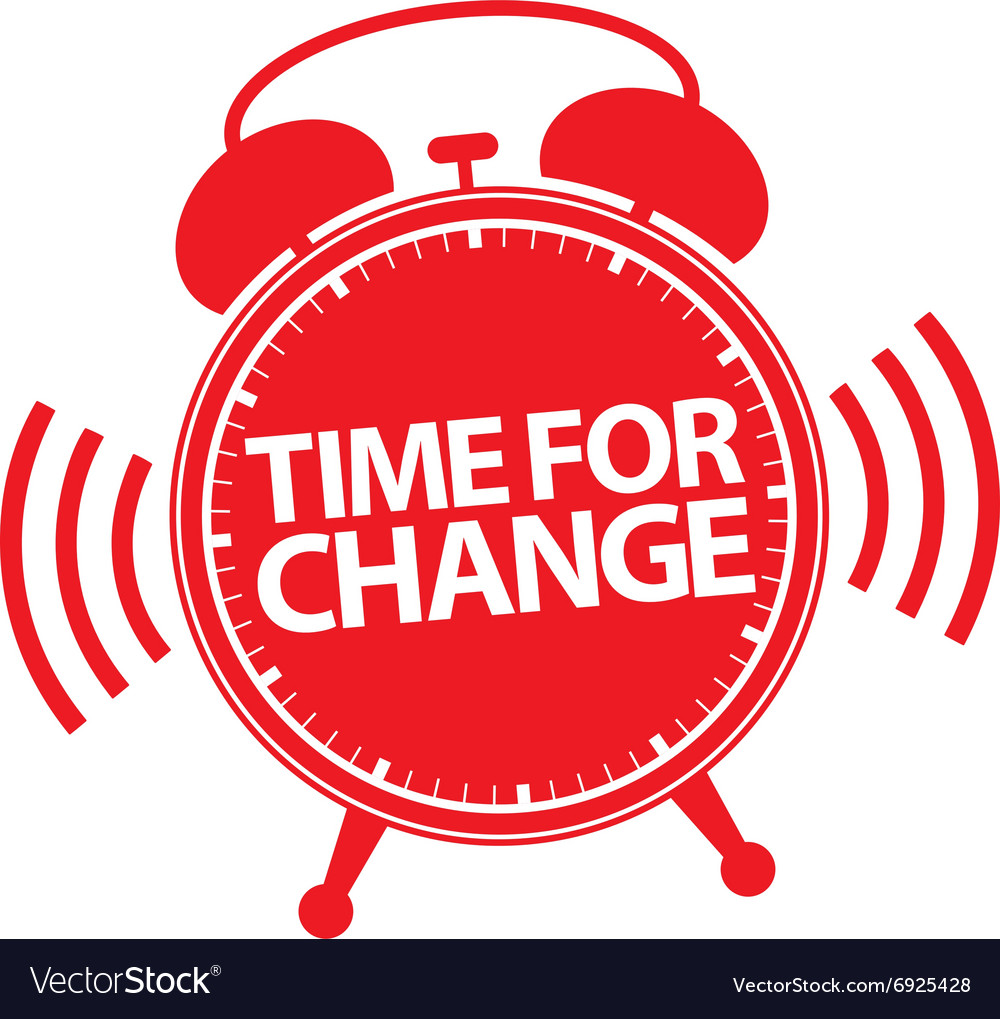 time for change alarm clock icon royalty free vector image