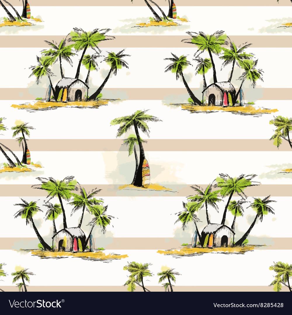 Tropical palm pattern