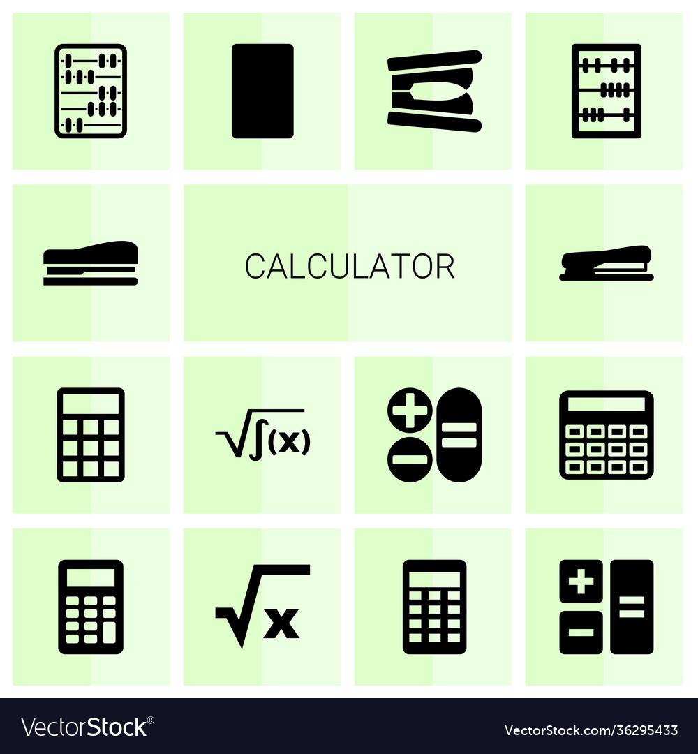14 calculator icons
