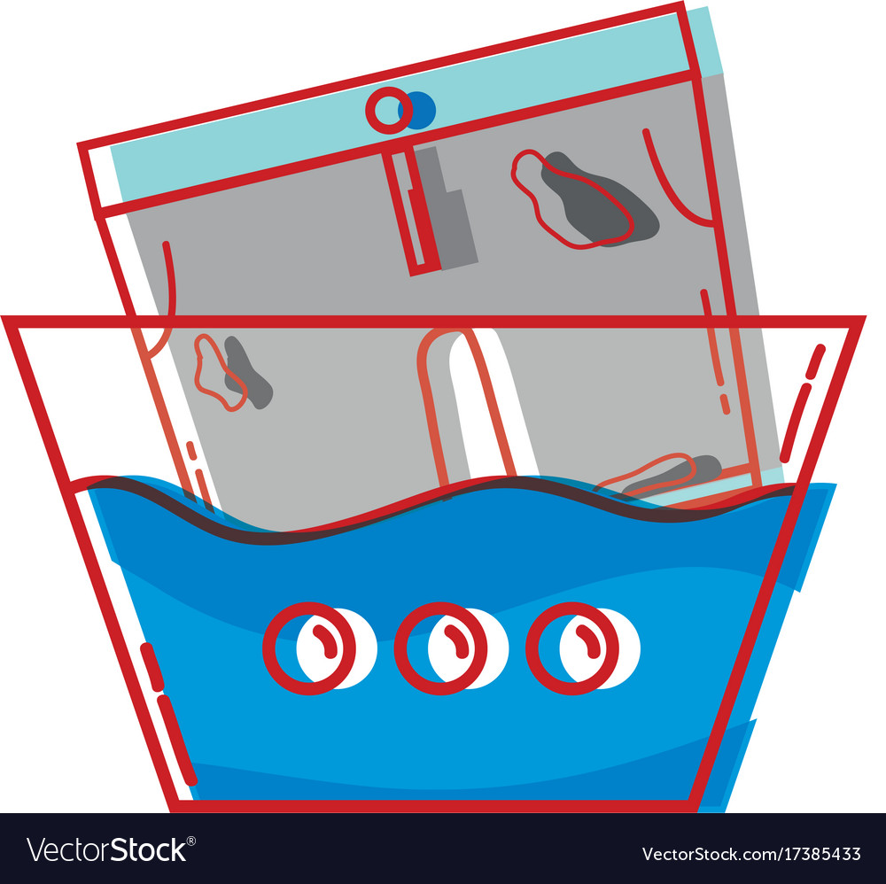 dirty shorts soaking in pail with water royalty free vector