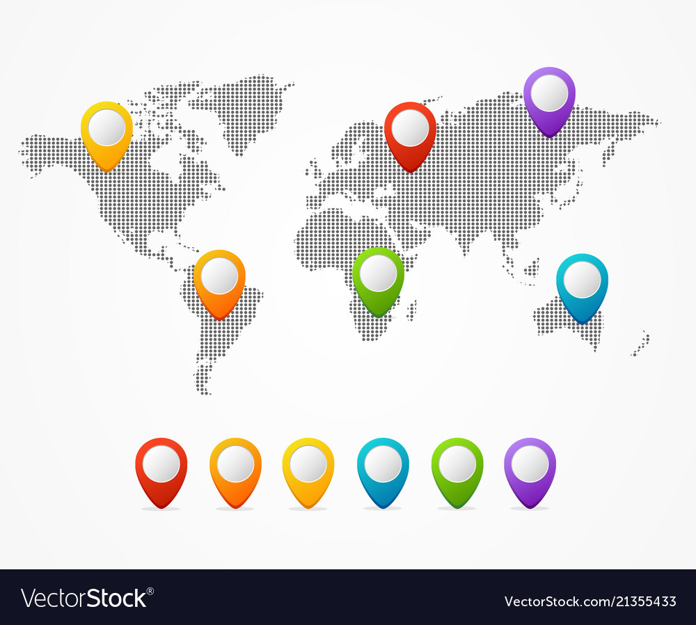 Dot map global world