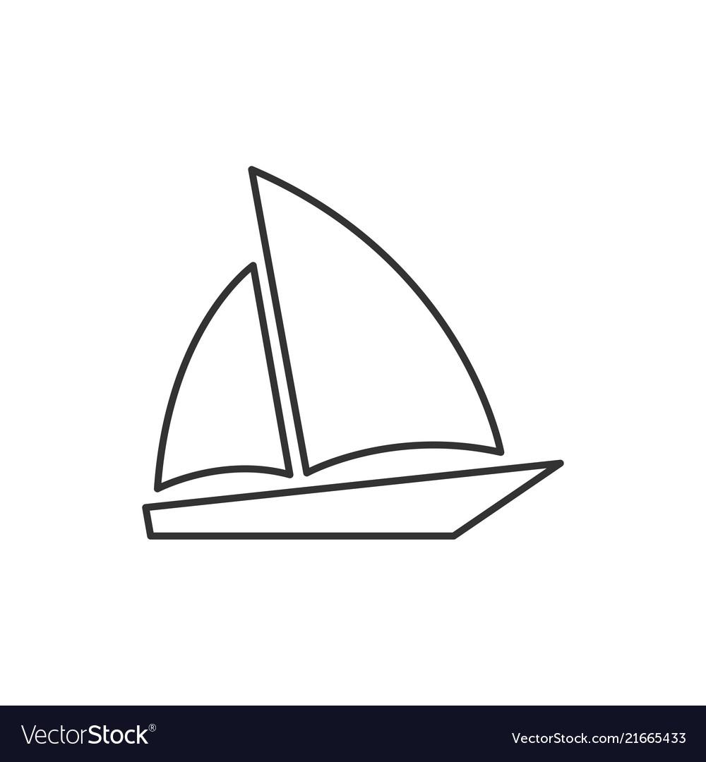 Single sailboat line icon