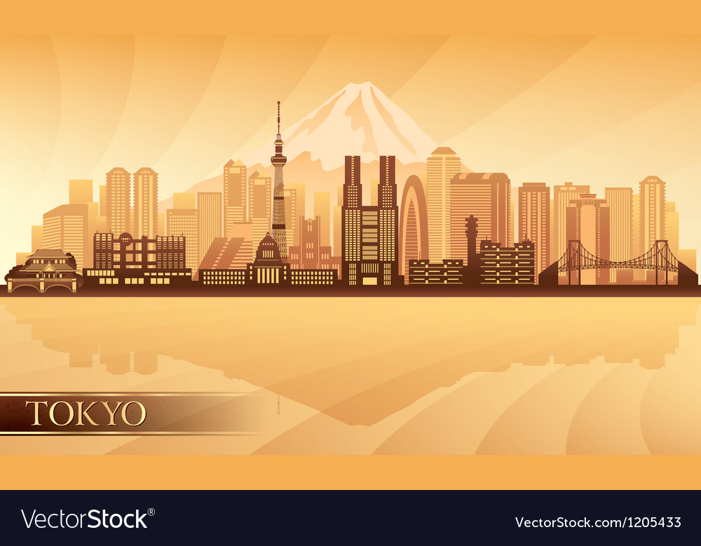 Tokyo city skyline silhouette