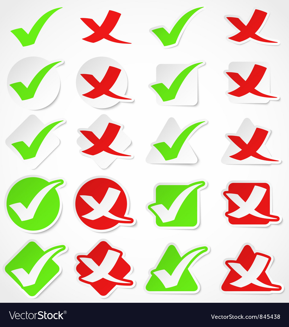 Check mark stickers vector image