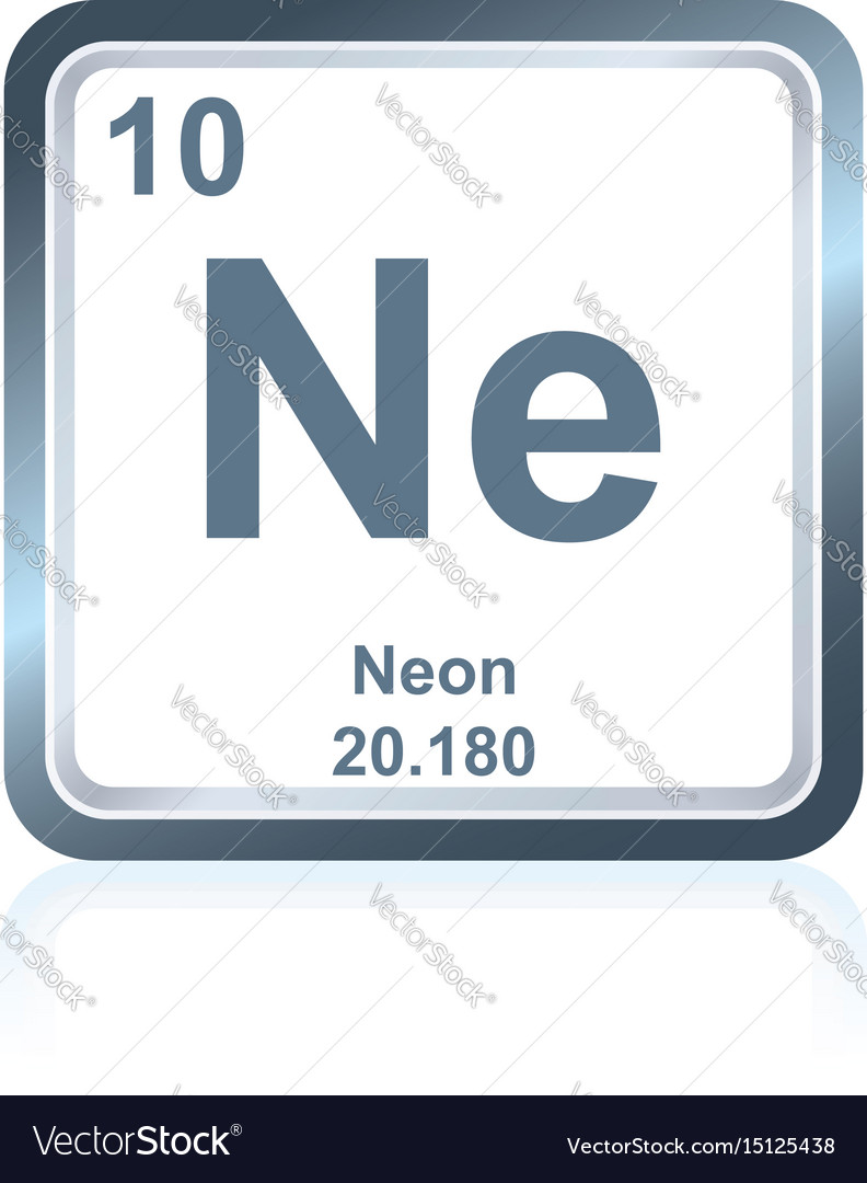 Chemical element neon from the periodic table