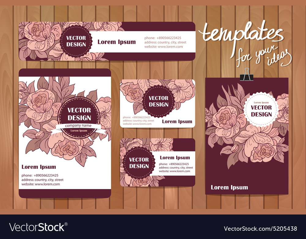 Corporate Identity templates set with doodles