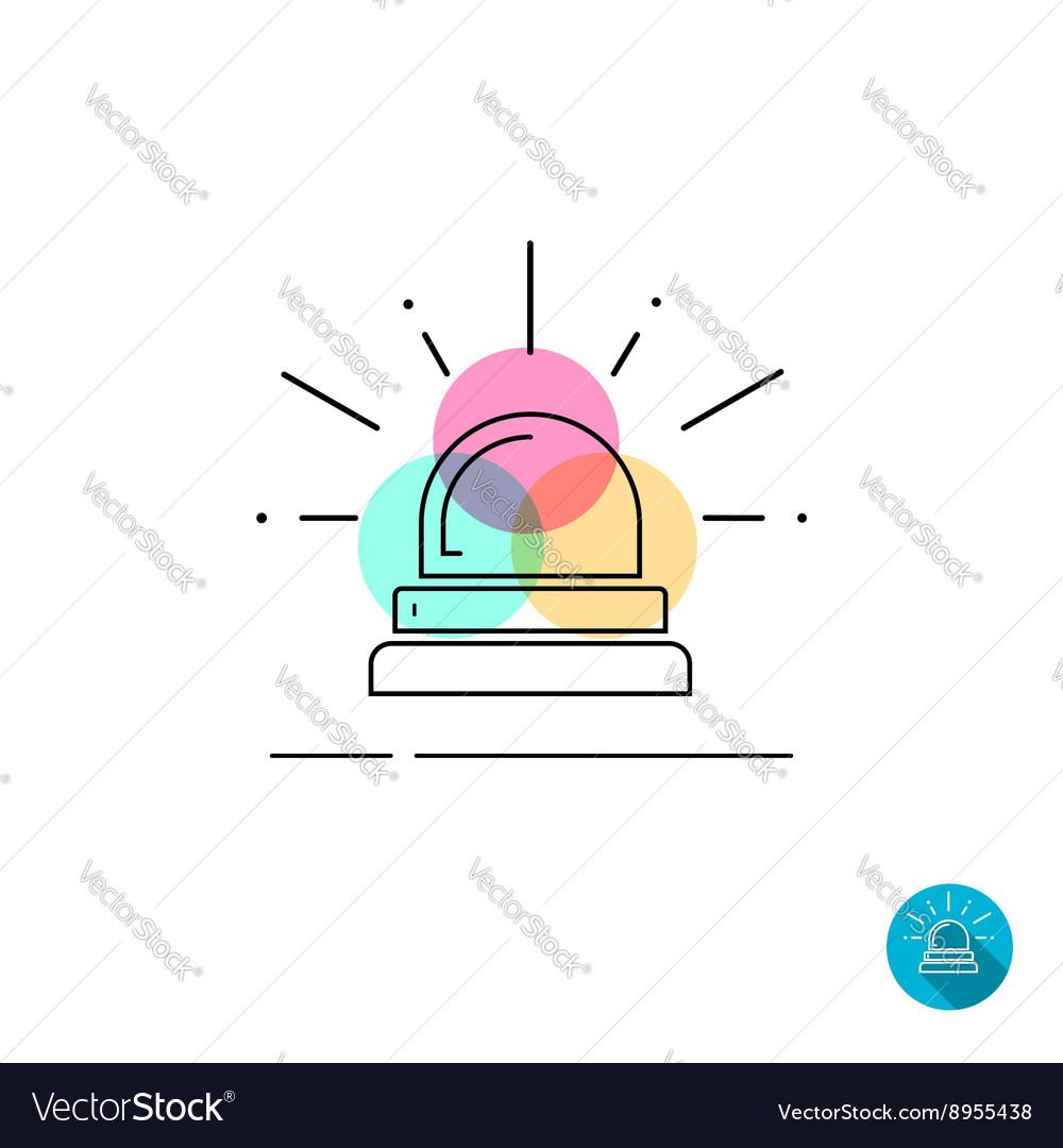 Emergency police flasher light icon isolated on