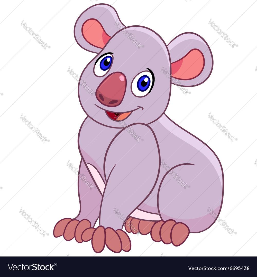 Funny cartoon koala