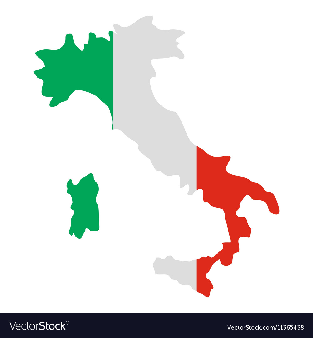 Pdf Map Of Italy.Italy Map Icon Flat Style